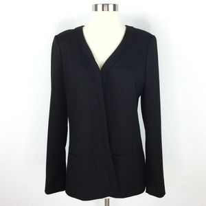 Long Champ Black Blazer Women Size 40